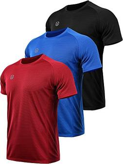 Neleus Men's 3 Pack Mesh Athletic Fitness Workout Shirts,503