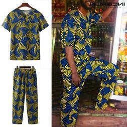 Men's African Clothing Dashiki Style Summer Printing T Shirt