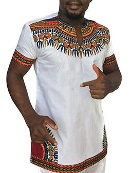 men s african print dashiki t shirt