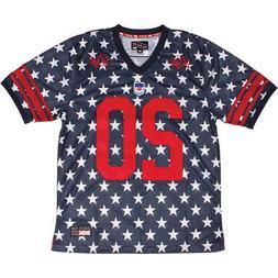 DGK Men's Americana Custom Football Jersey Short Sleeve T Sh