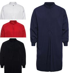 Men's Autumn Muslim Thobe Islamic Arabic Clothing Long Sleev