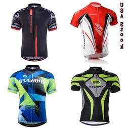 Men's Breathable Bikewear Cycling Bike Jerseys Short Sleeve