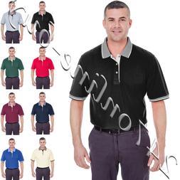 UltraClub  Men's Color-Body Classic Pique Multi-Stripe Trim
