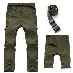 Men's Convertible Active Pants Quick-dry Hiking Cargo Pants