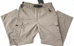 BC Clothing Men's Convertible Cargo Hiking Pants Shorts-Khak