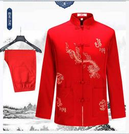 Men's Cotton Traditional Chinese Tang Coat Clothing Kung Fu