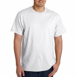 Men's Gildan Crew Neck T Shirt White 100% Cotton New Free Sh