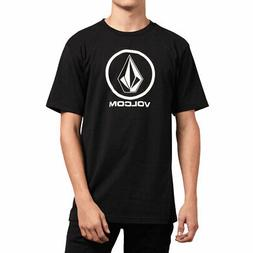 Volcom Men's Crisp Stone Short Sleeve T Shirt Black Tee T-Sh