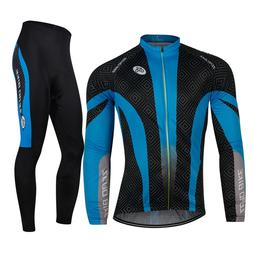 Men's Cycling Jersey Suits Bicycle Clothing Long Sleeve Shir