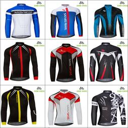 Men's Cycling Jerseys Clothing MTB Bicycle Sportswear Long S