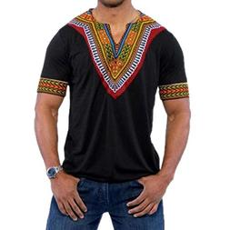 Men's Dashiki, Tribal African Bright Dashiki Shirt Tradition