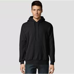 Hanes Men's EcoSmart Black Fleece Pullover Hooded Sweatshirt