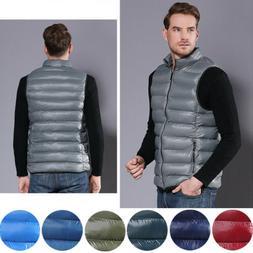 Men's Fashion Sleeveless Down Coat Vest Bubble Outerwear War