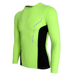 Men's Fitness Compression Top Long Sleeve T-Shirt Cycling Sp