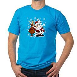 Truly Teague Men's Fitted T-Shirt  Santa Claus & Rudolf: Bes