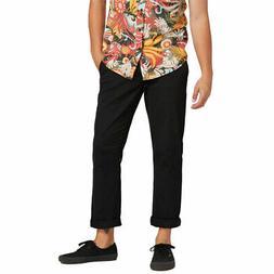 Volcom Men's Frickin Modern Stretch Chino Pants Black Clothi