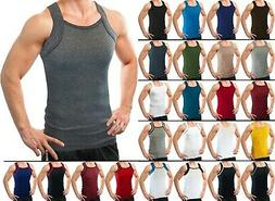 Different Touch Men's G-unit Style Tank Tops Square Cut Musc