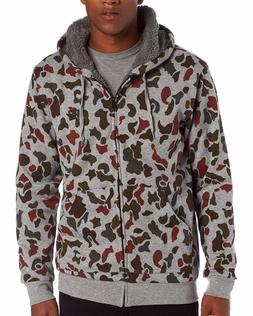 DC Shoes Men's Grey Camo Sherpa T-Star Shearling Print Full