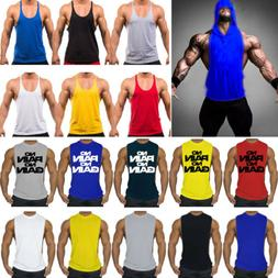 Men's Gym Bodybuilding Stringer Tank Top Muscle Workout Spor