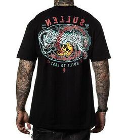 Sullen Men's Jade Tiger Short Sleeve T Shirt Black Clothing