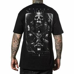 Sullen Men's King Fall Short Sleeve T Shirt Black Clothing A