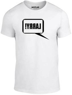 men s larry t shirt joke funny