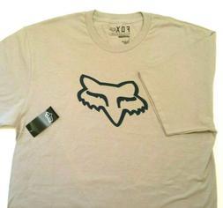 Fox Racing Men's Legacy Fox Head Short Sleeve T Shirt Sand/B