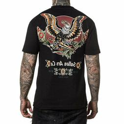 Sullen Men's Liberty Short Sleeve T Shirt Black Clothing App
