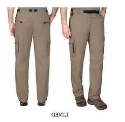 BC Clothing Men's Lined Adjustable Belt Cargo Pants Olive, a