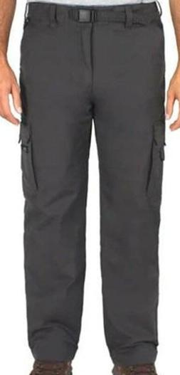 BC Clothing Men's Lined Cargo Hiking Pants Charcoal