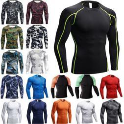 Men's Long Sleeve Compression Dry T-Shirt Base Layer GYM Spo