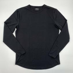 Cuts Clothing Men's Long Sleeve Crew Neck Curve Hem T-Shirt