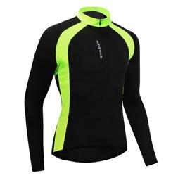 Men's Long Sleeve Cycling Jersey Breathable Bicycle Shirt MT