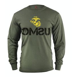 Men's long sleeve shirt USMC decal US Marine Corps gifts tac