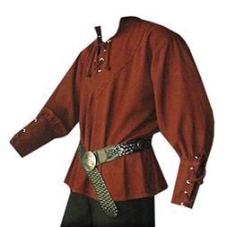 men s medieval lace up pirate mercenary