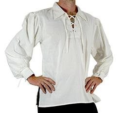 men s medieval pirate lace up stand