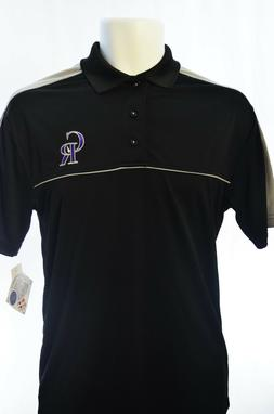 Men's MLB Apparel Colorado Rockies Embroidered Black Polyest