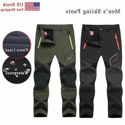 Men's Pants Fleece Lined Camping Outdoor Trousers Hiking Ski