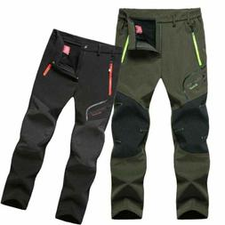 Men's Pants Trousers Thick Hiking Waterproof Winter Climbing