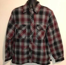 men s plaid shirt jacket with quilted