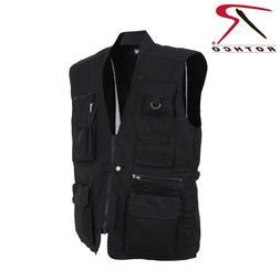 Rothco Men's Plain Cloths Black Concealed Carry Soft Shell V
