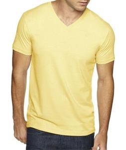 Next Level Men's Premium Sueded V-Neck Solid T-shirt 6440