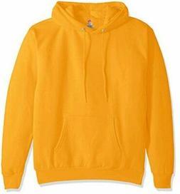 Hanes Men's Pullover EcoSmart Fleece Hooded Sweatshirt, Gold