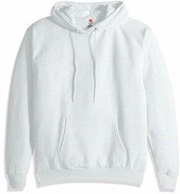Hanes Men's Pullover EcoSmart Fleece Hooded Sweatshirt, Ash,