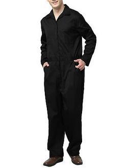 TopTie Men's Regular Long Sleeve Coverall Overall Snap Zip F