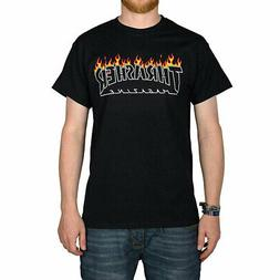 Thrasher Men's Scorched Outline Short Sleeve T Shirt Black C
