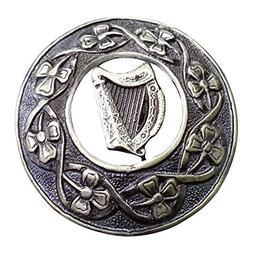 AAR Men,s Scottish S Irish Harp Kilt Brooch Fly Plaid Antiqu