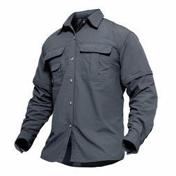 Men's Shirts Quick Dry Long Sleeve Hiking Casual Shirt T-Shi