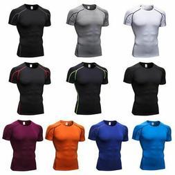 men s short sleeve compression shirt base