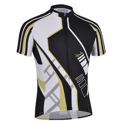 TopTie Men's Short Sleeve Race Cut Cycling Jersey Sublimated